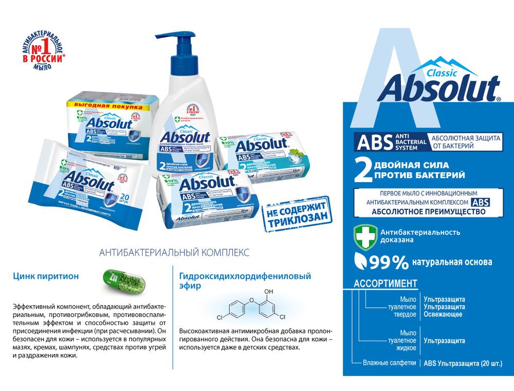 НОВИНКА! Антибактериальные средства защиты от бренда Absolute