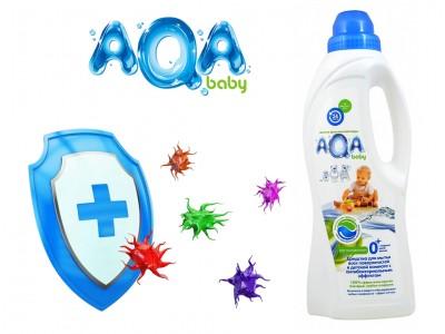 AQA baby Средство для мытья всех поверхностей в детской комнате, с антибактериальным эффектом