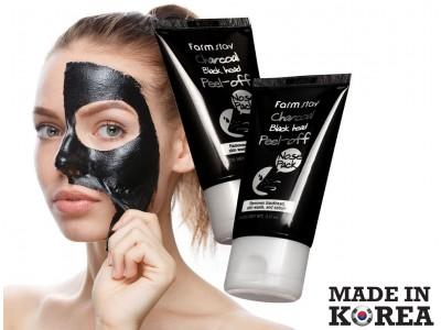 Очищающая маска-пленка с углем Farmstay