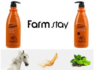 Шампунь-кондиционер и маска для волос с лошадиным жиром от Farmstay