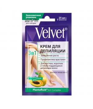 """Velvet Крем для депиляции """"3 в 1"""" для всех типов кожи  25 мл"""