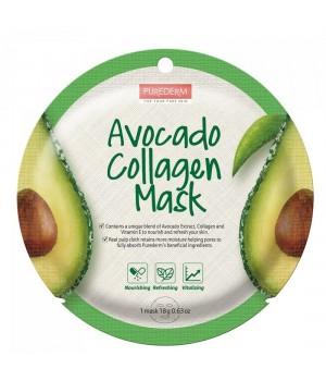 Purederm Коллагеновая маска с экстрактом плодов авокадо 18 г