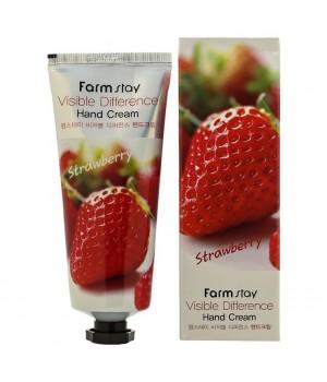 Farmstay Крем для рук с клубникой Visible Difference Hand Cream Strawberry 100 мл