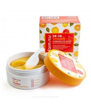 032730 Farmstay Гидрогелевые патчи (маски) для кожи вокруг глаз на экстракте Витамин 200г