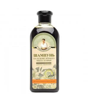Травы и сборы Агафьи Шампунь для волос на основе черного мыла 350 мл