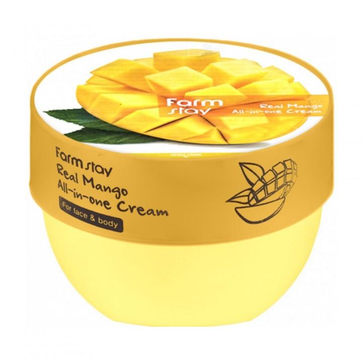 Farmstay Многофункциональный парфюмированный крем для лица и тела с экстрактом манго 300 мл