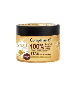 """Compliment Snail Vital Гель для тела и лица """"Увлажнение и обновление"""" 400 мл"""