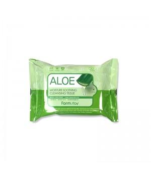 Очищающие увлажняющие салфетки с экстрактом алоэ Aloe Moisture Soothing Cleansing Tissue 30 шт