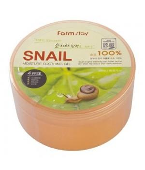 Farmstay Увлажняющий гель с экстрактом слизи улитки Moisture Soothing Gel Snail 300 мл