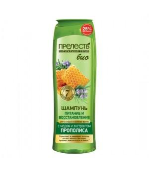 Прелесть Bio Шампунь для ломких волос Питание и восстановление Мед и Прополис 500 мл