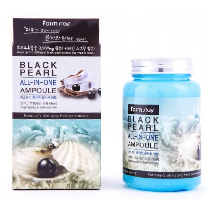 Farmstay Ампульная сыворотка для лица с черным жемчугом Black Pearl All-In One Ampoule 250 мл