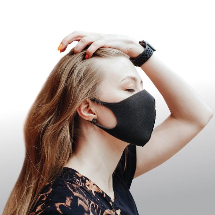 Dizao 3D Fashion Mask Многоразовая защитная маска (чёрная)