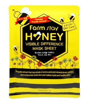 651454 Farmstay Тканевая маска для лица с медом и прополисом