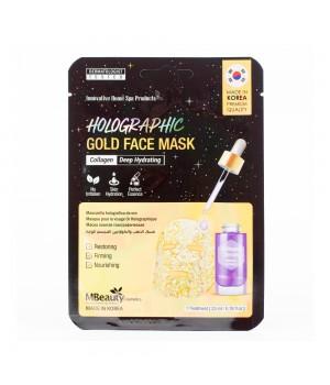 MBeauty Голографическая золотая маска для лица с коллагеном 23 мл