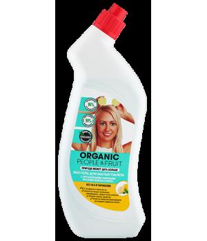 Organic People & Fruit Эко гель для мытья туалета с органическими эфирными маслами лимона и мяты 750 мл