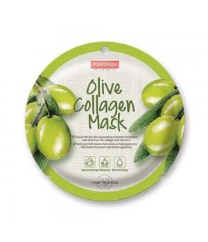 Purederm Коллагеновая маска с экстрактом плодов оливы 18 г