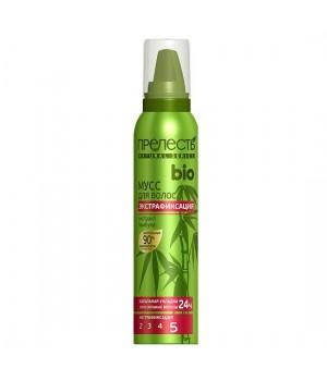 Прелесть Bio Мусс для волос Экстрафиксация с экстрактом бамбука 160 мл
