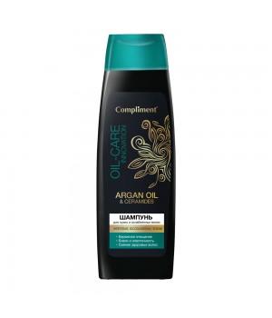 Compliment Argan Oil & Ceramides Шампунь для сухих ослабленных волос 400 мл