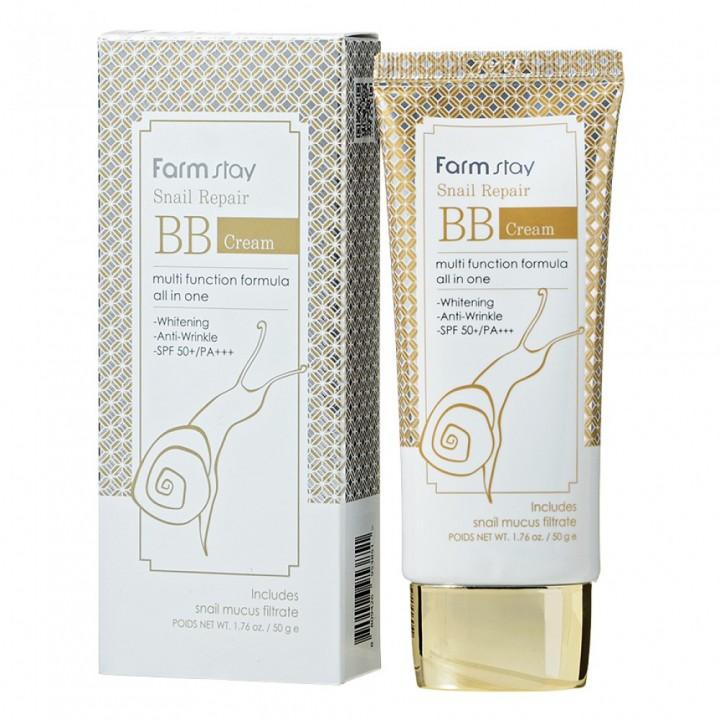Farmstay BB крем для лица с муцином улитки Snail Repair BB Cream 50 мл
