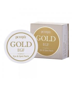 Petitfee Патчи для век гидрогелевые с EGF и золотом Gold & EGF Eye&Spot Patch 90 шт