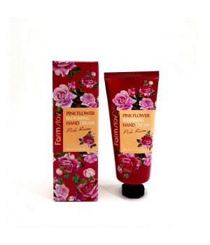Farmstay Крем для рук с розой Pink Flower Blooming Hand Cream Pink Rose 100 мл