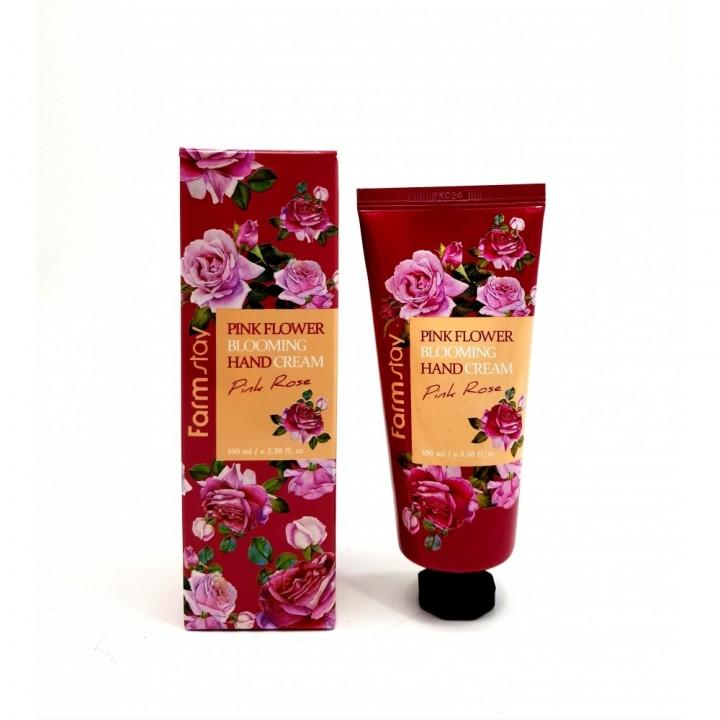 Farmstay Крем для рук с розой Pink Flower Blooming Hand Cream Pink Rose 100 мл