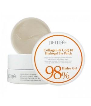 Petitfee Патчи для век гидрогелевые с коллагеном Collagen&CoQ10 Hydrogel Eye Patch 60 шт