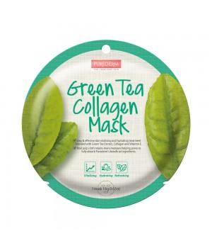 Purederm Коллагеновая регенерирующая маска с экстрактом зеленого чая 18 г
