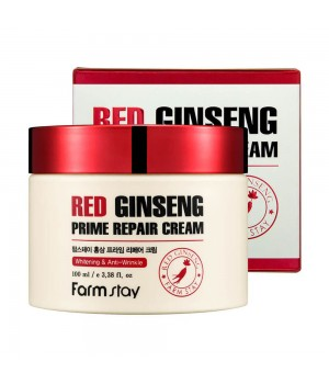 Farmstay Восстанавливающий крем с экстрактом красного женьшеня Red Ginseng Prime Repair Cream 100 мл