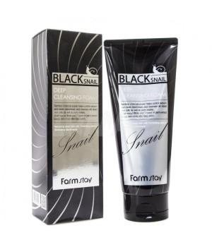 Farmstay Пенка для умывания с муцином черной улитки Black Snail Deep Cleansing Foam 180 мл