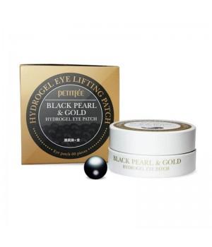 Petitfee Патчи для век гидрогелевые с черным жемчугом Black Pearl&Gold Hydrogel Eye Patch 60 шт