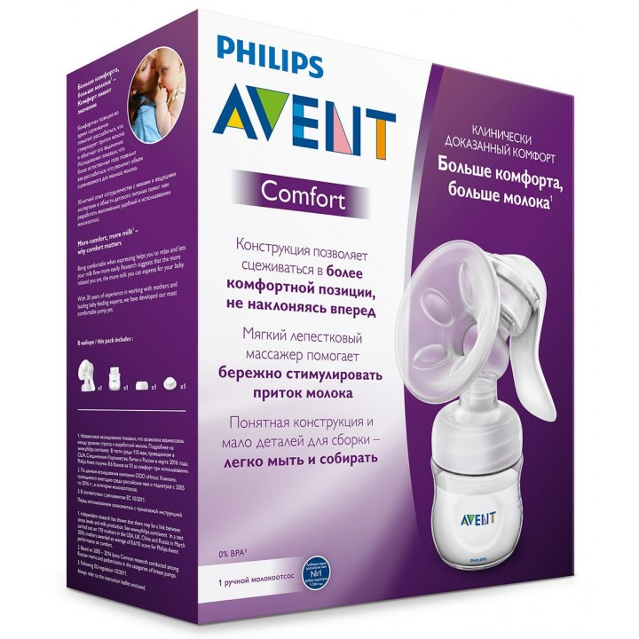AVENT Молокоотсос ручной Philips Avent Серия Comfort***