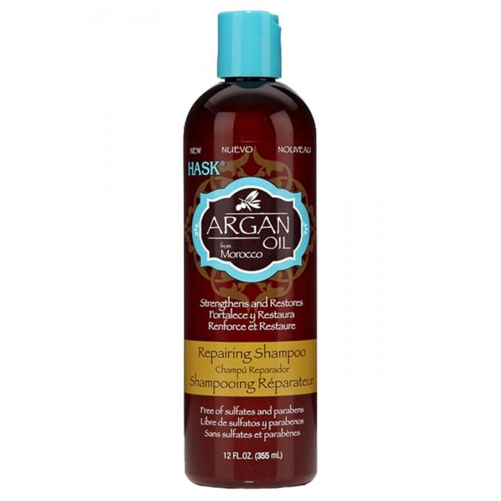 Hask Восстанавливающий шампунь для волос с аргановым маслом 355 мл