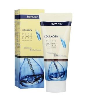 Farmstay Пенка для умывания с коллагеном Collagen Pure Cleansing Foam 180 мл