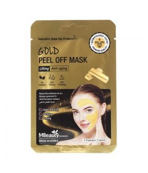 MBeauty Подтягивающая маска-пленка с коллоидным золотом 3 шт