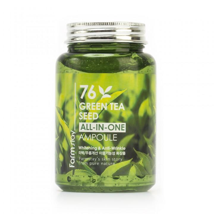 Farmstay Сыворотка для лица с экстрактом зеленого чая 76 Green Tea Seed All-in-One Ampoule 250 мл