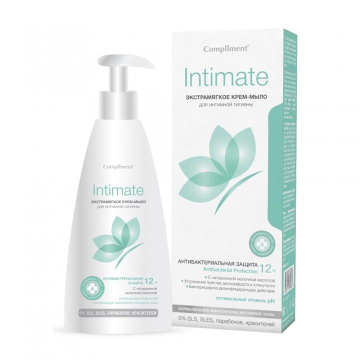 """Compliment Intimate Крем-мыло для интимной гигиены """"Экстрамягкое"""" 250 мл"""