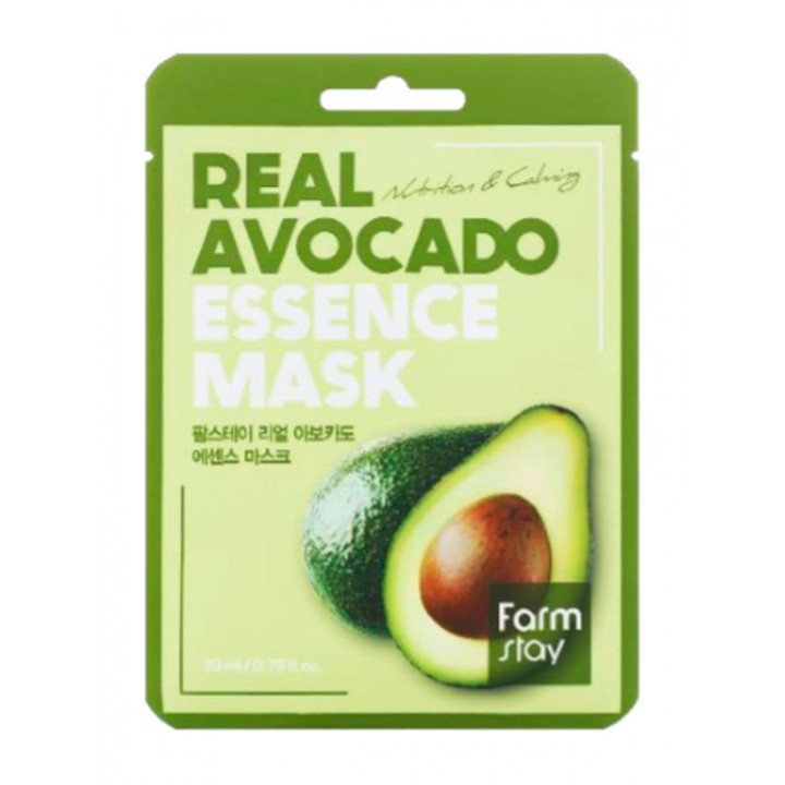 Farmstay Тканевая маска с экстрактом авокадо Real Avocado Essence Mask 23 мл