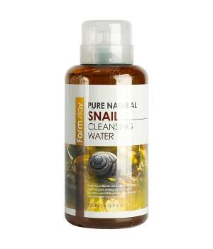 Farmstay Очищающая вода для лица с улиткой Pure Cleansing Snail Water 500 мл