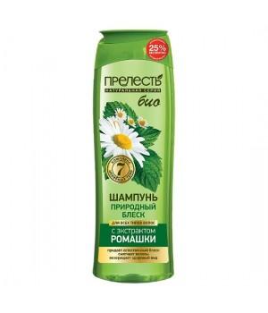 Прелесть Bio Шампунь для волос Природный блеск с экстрактом ромашки 500 мл