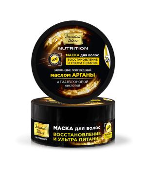 """Золотой Шёлк Маска для волос восстановление и ультра питание """"NUTRITION"""" 180 мл"""
