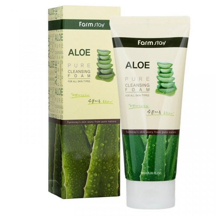 Farmstay Пенка для умывания с алоэ Aloe Pure Cleansing Foam 180 мл