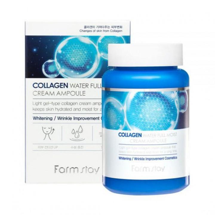 Farmstay Увлажняющий крем-сыворотка с коллагеном Collagen Water Full Moist Cream Ampoule 250 мл