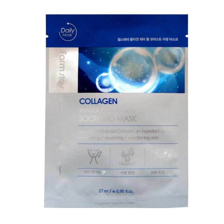 Farmstay Успокаивающая тканевая маска с коллагеном Collagen Water Full Moist Soothing Mask 27 мл