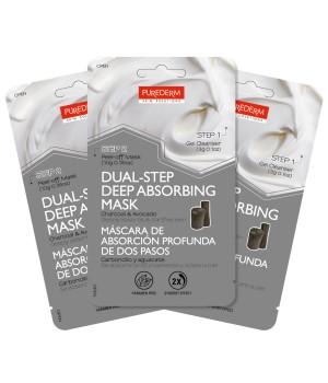 Purederm Маска-набор Двойной уход: Очищающий гель + Маска- пленка с углем и авокадо 39 мл