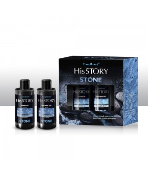 Compliment His Story ПН №1431 Stone (Шампунь для волос 320мл + Гель для душа 320мл)