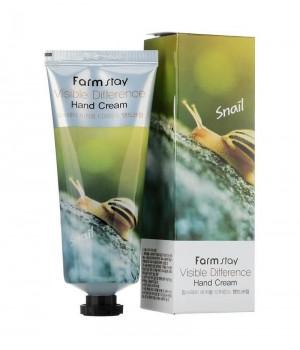 Farmstay Крем для рук с экстрактом улитки Visible Difference Snail Hand Cream 100 мл