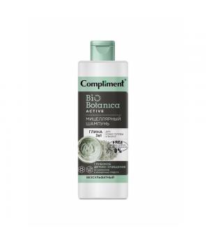 """Compliment Bio Botanica Active Мицеллярный шампунь для кожи головы и волос """"Глина 3 в 1 """" 380 мл"""