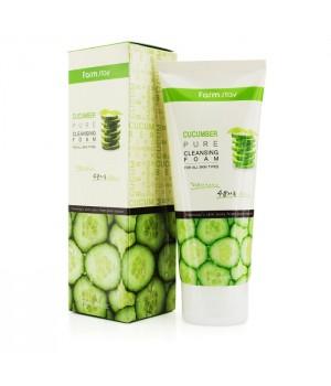 Farmstay Пенка для умывания с огурцом Cucumber Pure Cleansing Foam 180 мл