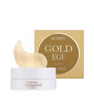 Petitfee Патчи для век гидрогелевые с золотом Premium Gold & EGF Hydrogel Eye Patch 60 шт